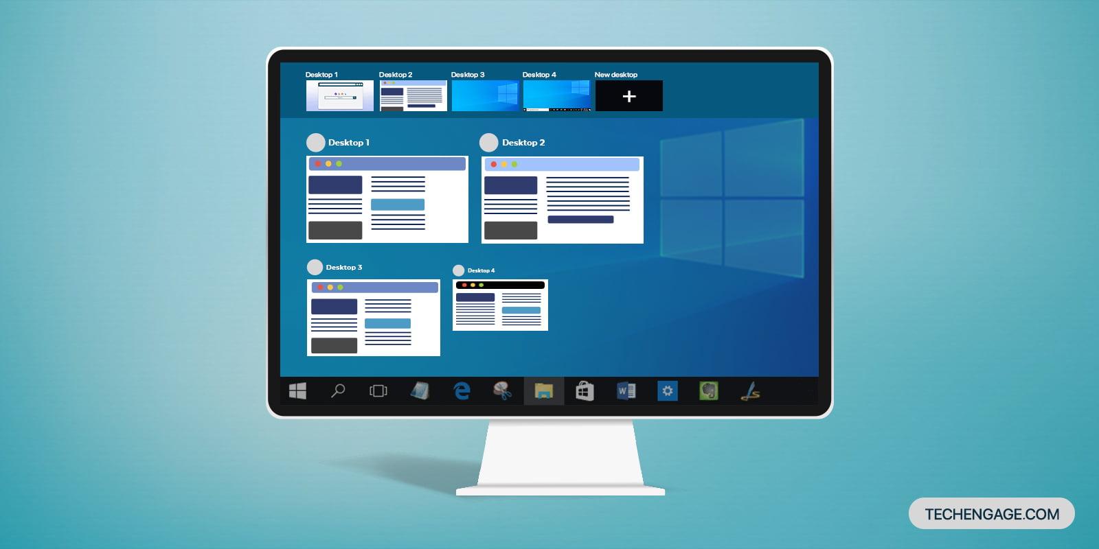 How to use multiple desktops in Windows 10