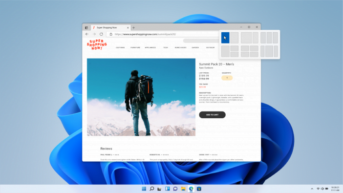 Snap Layouts & Groups in Windows 11