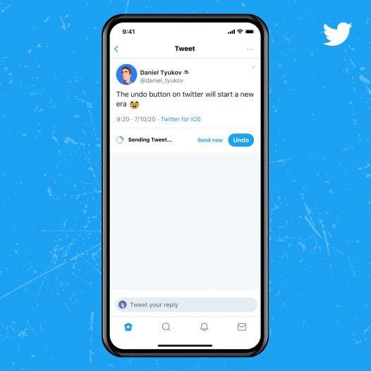 Screenshot of Undo tweet feature in Twitter blue service