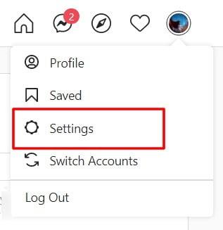 profile settings on instagram