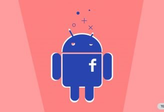 An icon of Android featuring Facebook shortened icon on it