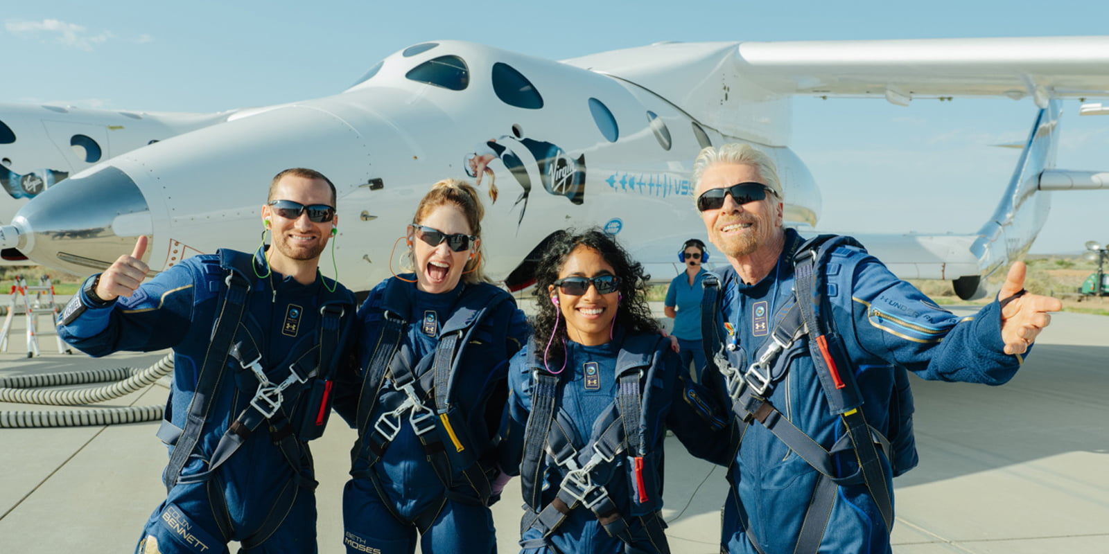 Virgin Galactic launches billionaire Richard Branson to space in a historic space flight with crew
