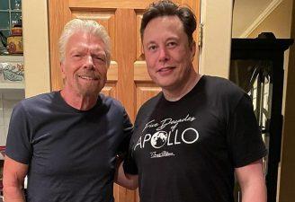 Richard Branson and Elon Musk from Instagram post