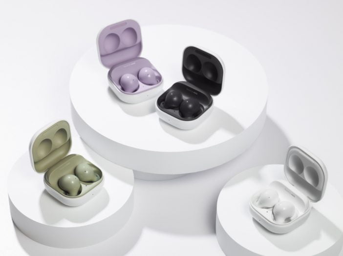 The Galaxy Buds 2 in four different colors