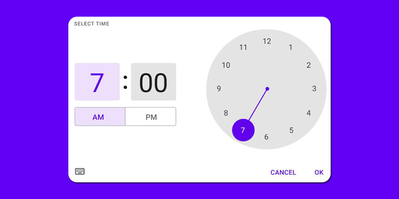 Material You Time Picker