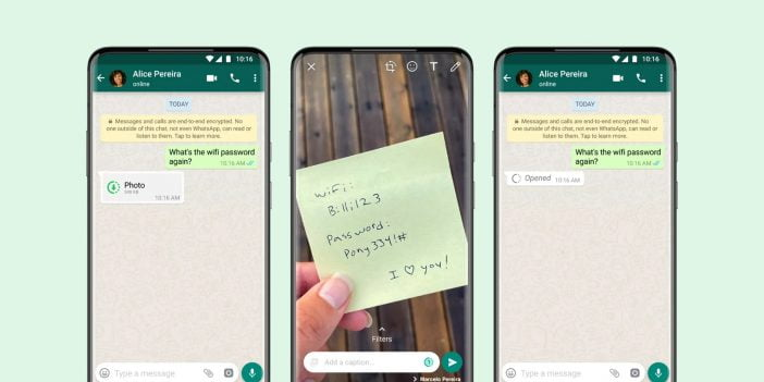 WhatsApp view once feature update