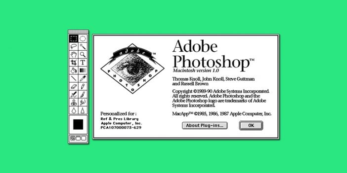 Photoshop first graphical user interface