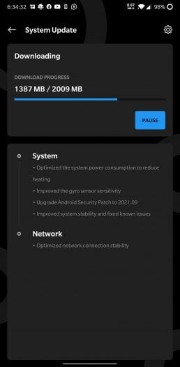 Android 11 OxygenOS 11 update changelog for OnePlus 6 and 6T