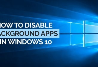 Disable Background apps in Windows 10