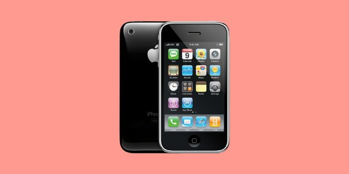 User interface on iPhone OS or iOS from 2007's iPhone first generation
